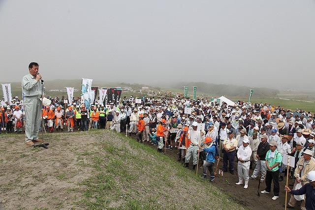 希望の森づくり 掛川モデル防潮堤植樹祭
