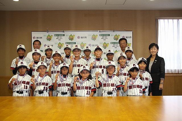 掛川桔梗女子ソフト全国3位